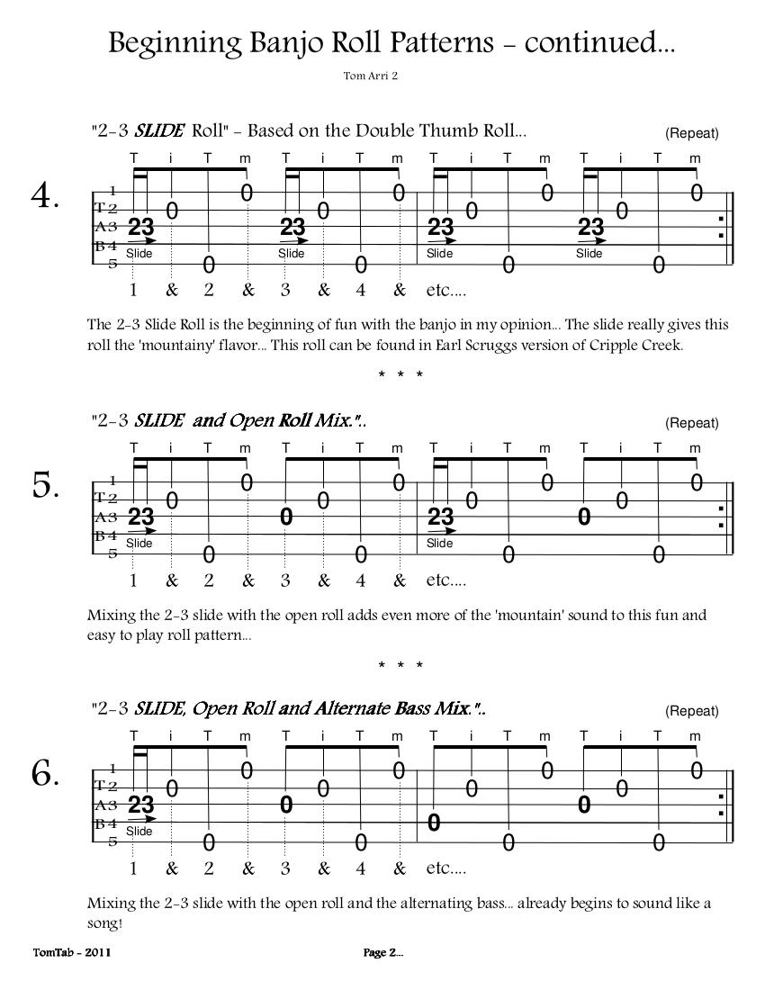 Beginning Banjo Rolls - Page 2
