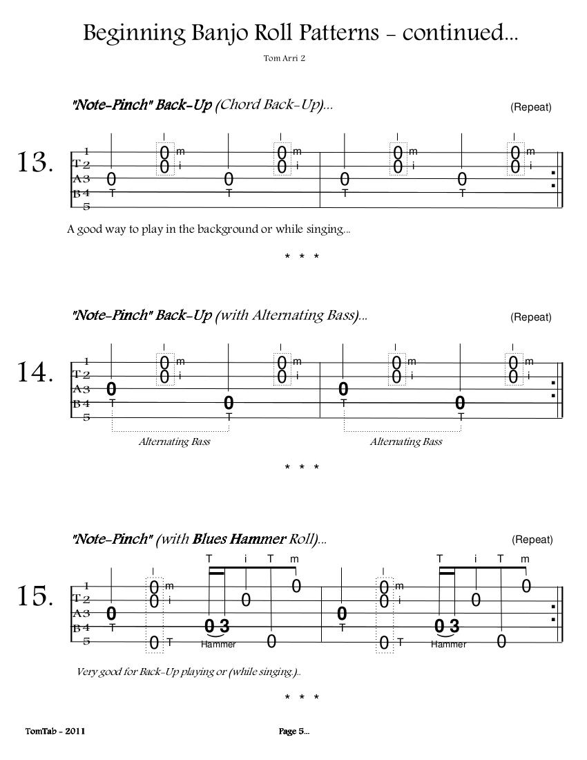 Beginning Banjo Rolls - Page 5