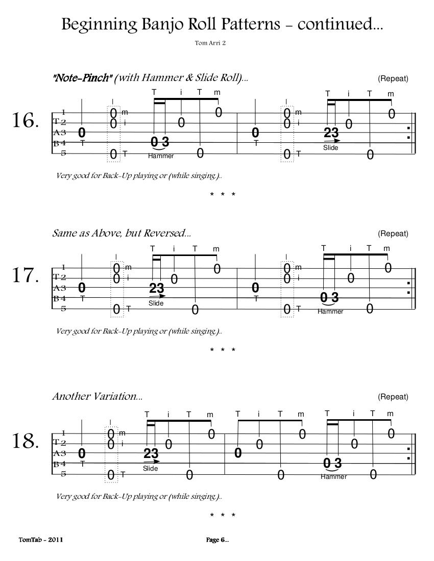 Beginning Banjo Rolls - Page 6