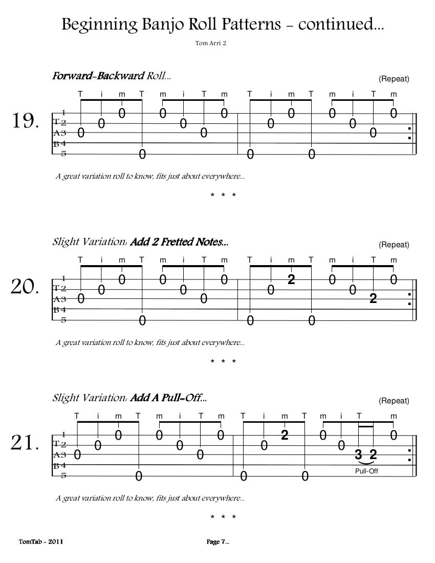 Beginning Banjo Rolls - Page 7