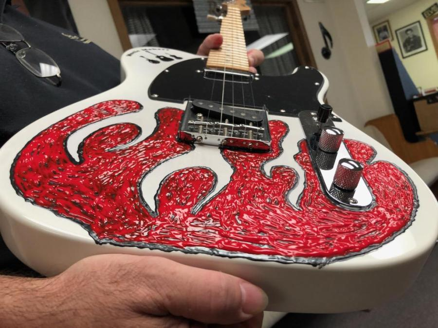 Close-Up of Red Electric Banjo - 2019
